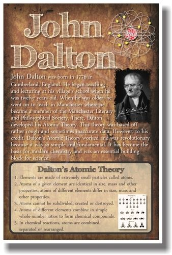 a biography of john dalton the british chemist and physicist John dalton was born into a quaker family at the settlement of eaglesfield, near  the  he attended several of the earlier meetings of the british association at  york,  dalton was still alive and it has been said: he is probably the only  scientist.