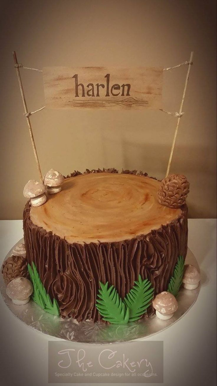 Wilderness Tree Stump On Cake Central In 2019 Cake