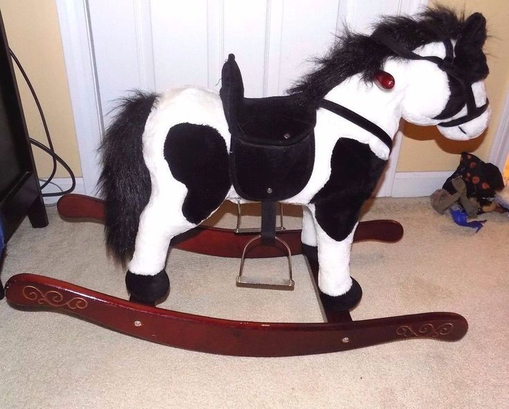 Sound N Light Animatronics Plush Rocking Horse-Makes/Sounds/Moves Head/Wags Tail picclick.com
