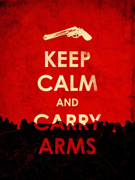Keep Calm And Carry Arms? Stretched Canvas
