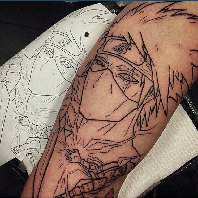 45 Fabulous Naruto Tattoo Designs - Dream Big and Be Hokage Check more at http://tattoo-journal.com/best-naruto-tattoo-designs-meaning/