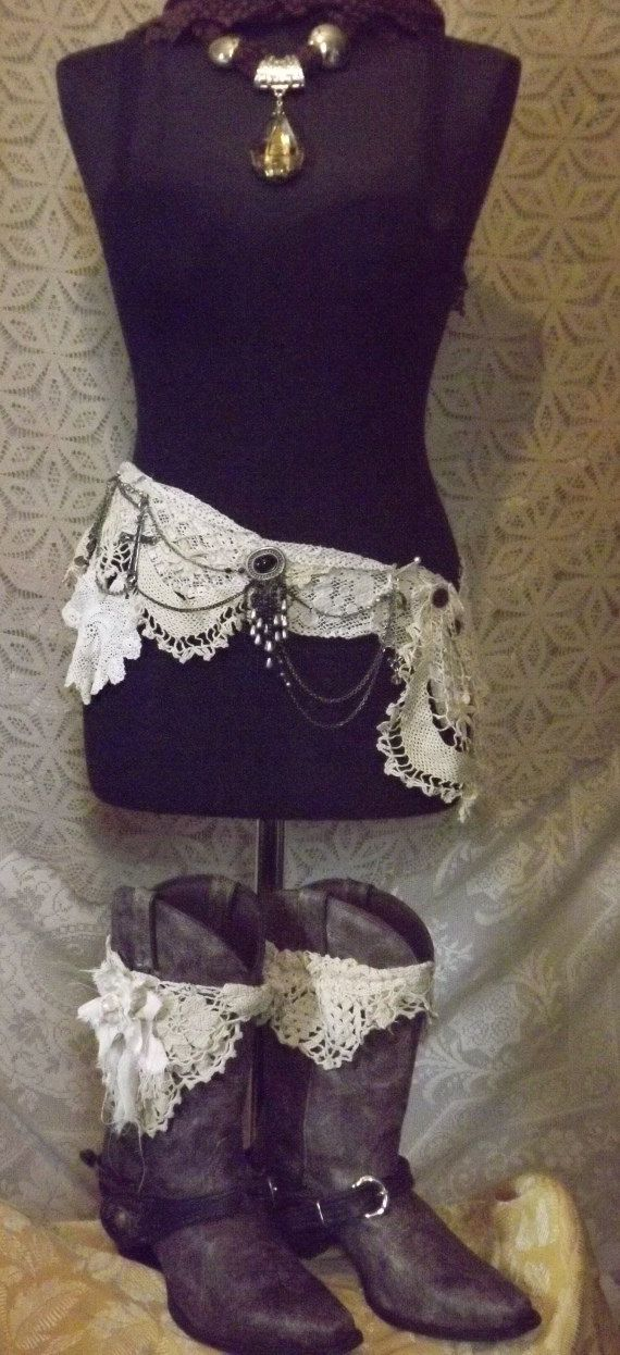 Maggie Mae Went Boot Scootin'  Upcycled Cowgirl Crochet Hip Wrap For Your Barn Wedding Dance on Etsy, $91.00