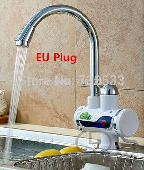Electric Water Heater Electric Faucet Water With Electric Wall Cold Hot Dual-Use Intelligent Digital Kitchen Instant Hot Water