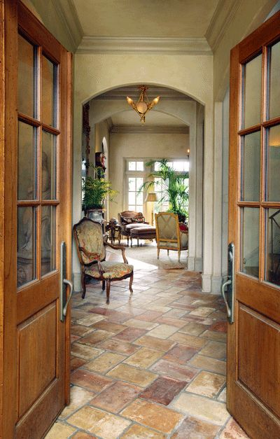 Beautiful Entry With Great Flooring   Featured In At Home Arkansas Magazine