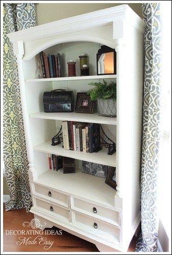 Accessorizing a bookshelf from Jenniferdecorates.com