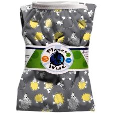 Our favorite pail liner - actually this print is one we have in rotation!  Planet Wise makes great wet bags too - you gotta have a few in your home and car!
