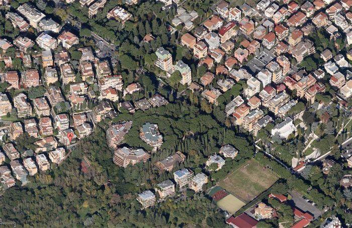 Uno dei quartieri più verdi di Roma. Tomba di Nerone zona Cassia