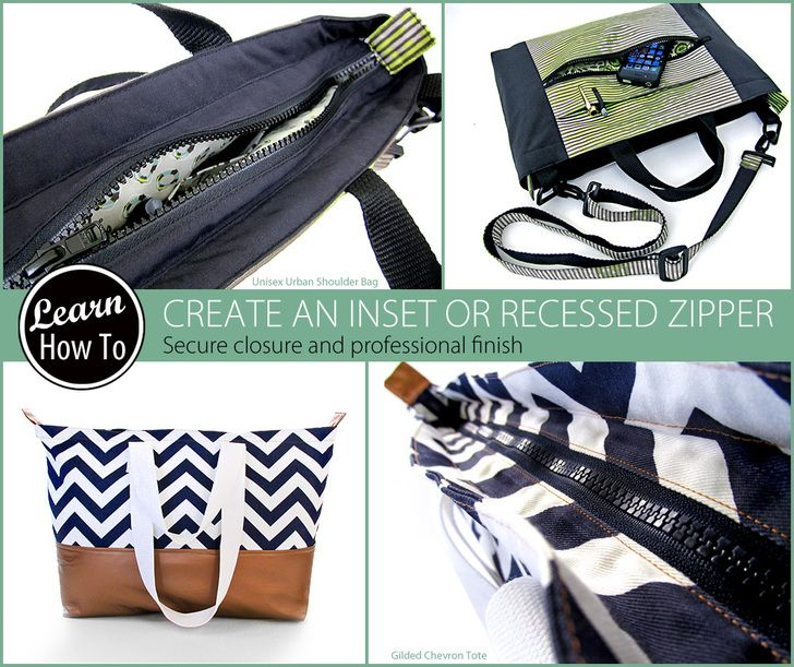 How to Create an Inset Zipper | Sew4Home