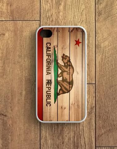 California Flag Wood Texture iPhone 4 | 4S Case