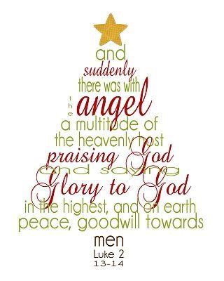 Christmas scripture tree printable