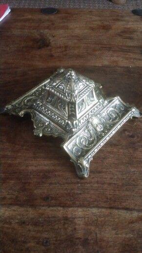 French Depose Brass inkwell