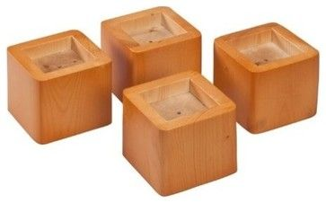Bed Riser - Honey, Set of 4 contemporary-bed-accessories