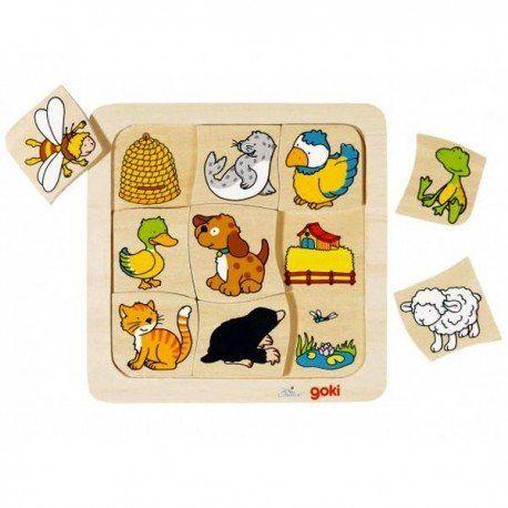 puzzle en bois qui vit o 9 pcs puzzle enfant 2 ans. Black Bedroom Furniture Sets. Home Design Ideas