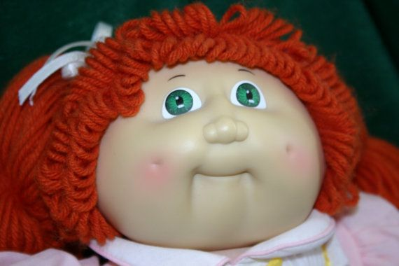 cabbage patch doll my aunt had one just like this one i used to take each strand of hair and. Black Bedroom Furniture Sets. Home Design Ideas