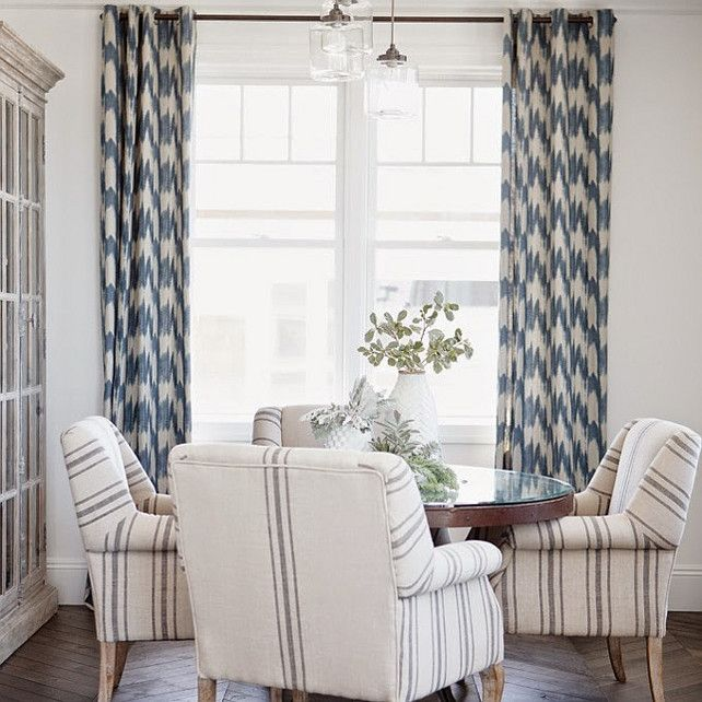 Game Table Seating Idea Or Striped Fabric Like This On Pair Of Chairs