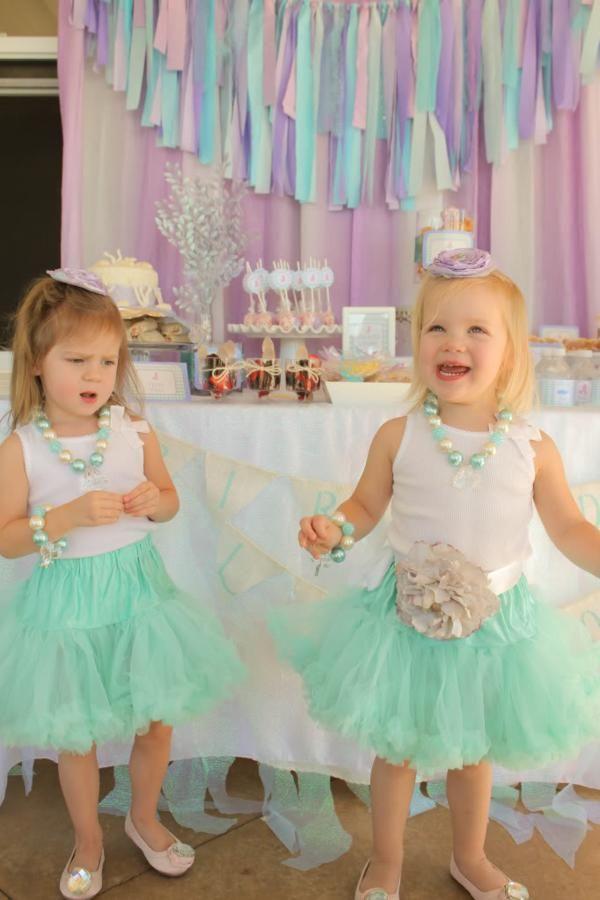 Whimsical Mermaid Birthday Party via Kara's Party Ideas | Perfect outfits