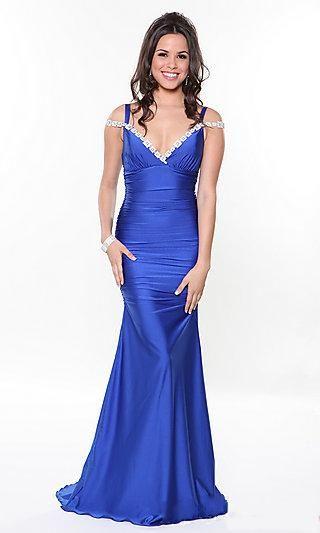 Long V-neck Atria Prom Dress,Sexy Evening Dresses