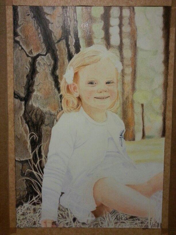 Madison. Portrait in Polychromos pencils.