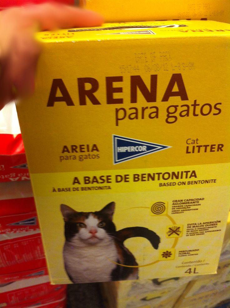 Arena perfumada para gatos a base de Bentonita del Hipercor. 4 litros por 3,1€. ¿Opiniones?