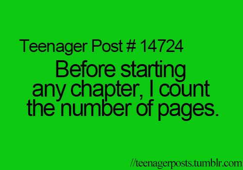 I do this more often than I'd like to admit. I actually see how many pages a book actually has before starting a book XD Am I the only one who does that?
