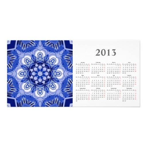 Kaleidoscope photocard with 2013 calendar photo cards
