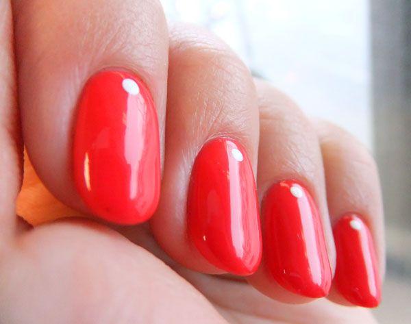 opi gel color -- cajun shrimp Va va voom nails! Colour explosion #TopshopPromQueen