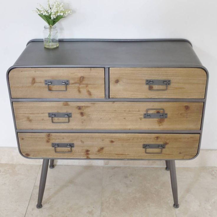Industrial Factory Chest Of Drawers