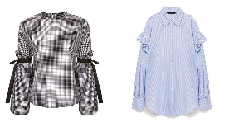 Camisa de Topshop (46 euros) y de Zara (29,95 euros).