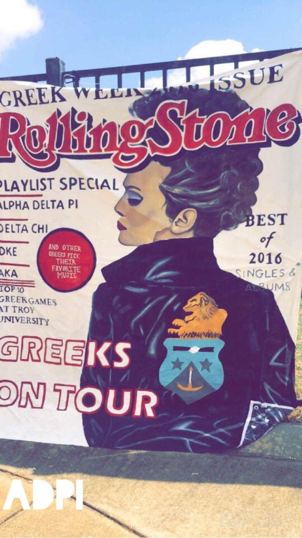Troy University Greek Week 2016 - Alpha Delta Pi banner