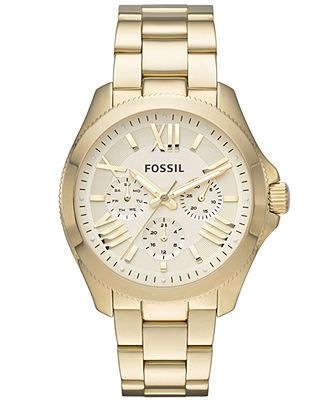 Fossil Watch, Women's Cecile Gold-Tone Stainless Steel Bracelet 40mm AM4510