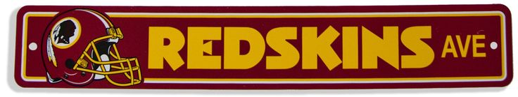 MSWR2 Street Sign Washington Redskins