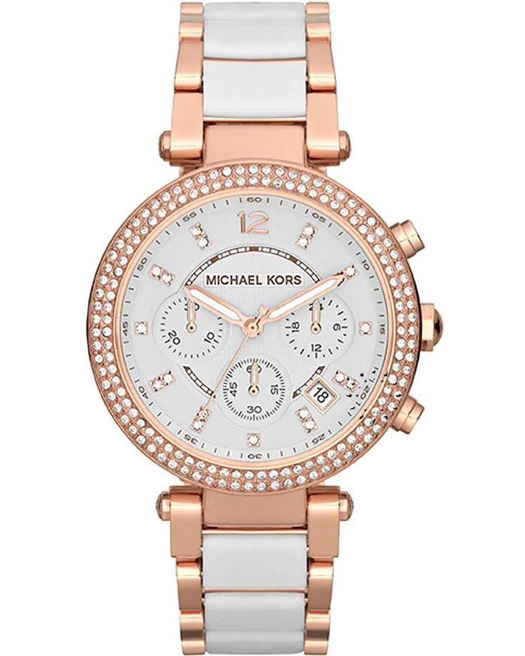 MICHAEL KORS Chrono Ceramic and Rose Gold Stainless Steel