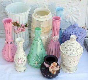 Upcycled Flea Market Glass Vases | FaveCrafts.com