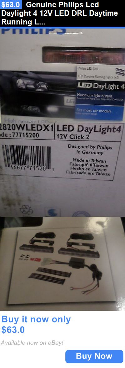 Motors Parts And Accessories: Genuine Philips Led Daylight 4 12V Led Drl Daytime Running Light 12820Wledx1 BUY IT NOW ONLY: $63.0