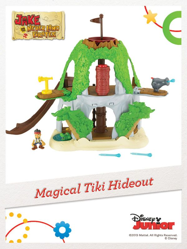 Be a part of the action and adventure at the Magical Tiki Hideout with Jake and his pirate crew! #FisherPrice #Disney #Toys