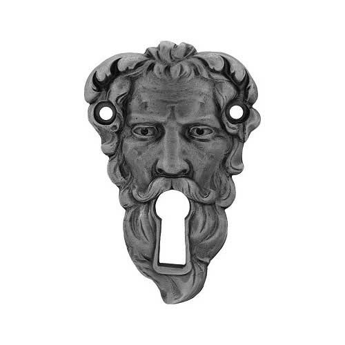 Antique Pewter Sentinel Escutcheon  really different