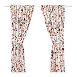 IKEA RÖDARV curtains with tie-backs, 1 pair