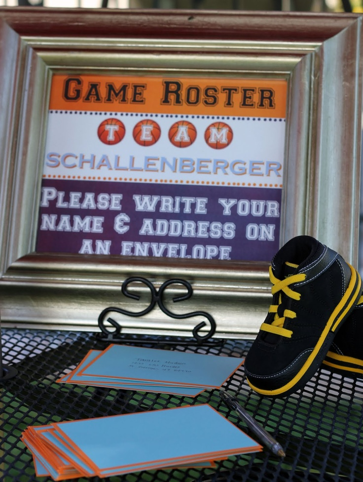 Crae's Creations: Basketball Baby Shower