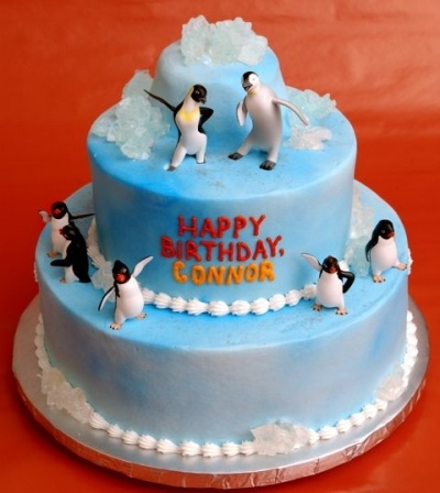Happy Feet Penguin Cake Ideas