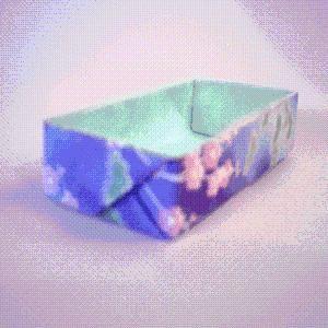 DIY Origami : DIY Origami Rectangle Box Instructions ***origami fun ****