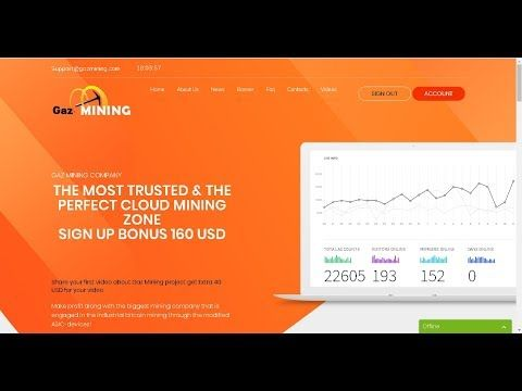 Gaz Mining Limited Free Bitcoin Earning $160 Signup Bonus (mobile