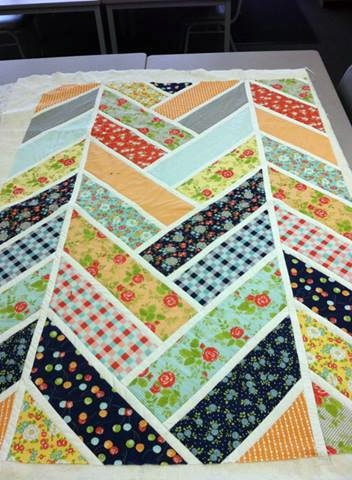 Modern quilt- would look nice above the bed in the guest room