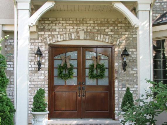 13 Best Images About Doors On Pinterest Entry Front 25 Double Door Wreaths