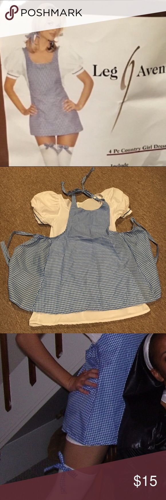 Adult Dorothy costume This costume has been worn a couple of times and is in very good condition. It comes with the dress, apron, hair ribbons, and thigh high leggings. I have the shoes I wore with it listed separately if you are looking for shoes! Leg Avenue Other