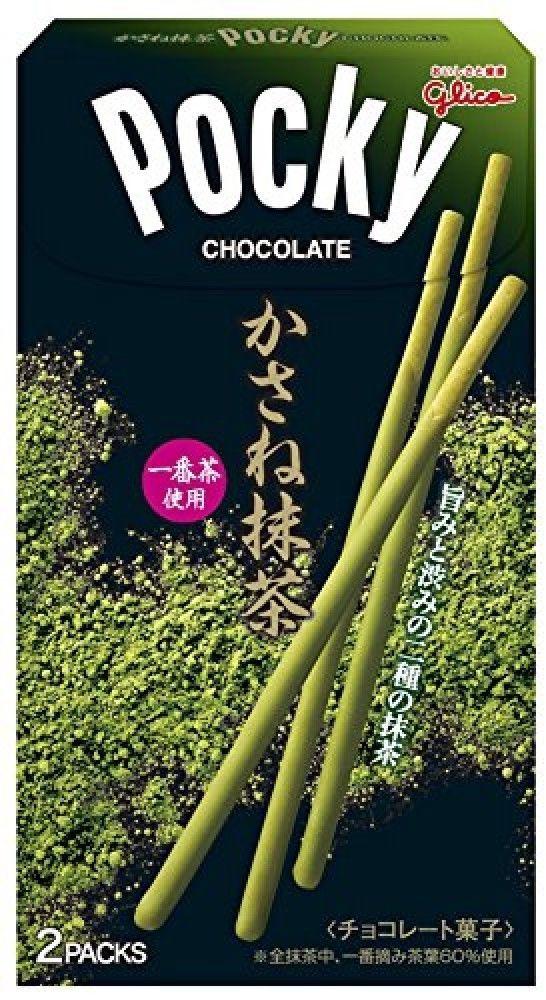 Glico Pocky Kasane W Matcha Green tea Chocolate Biscuit Stick pretzels Japanese #Glico