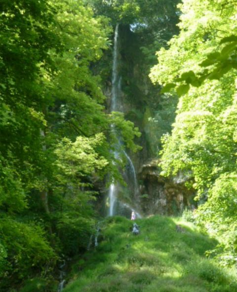 Hiking to Bad Urach waterfall, Germany