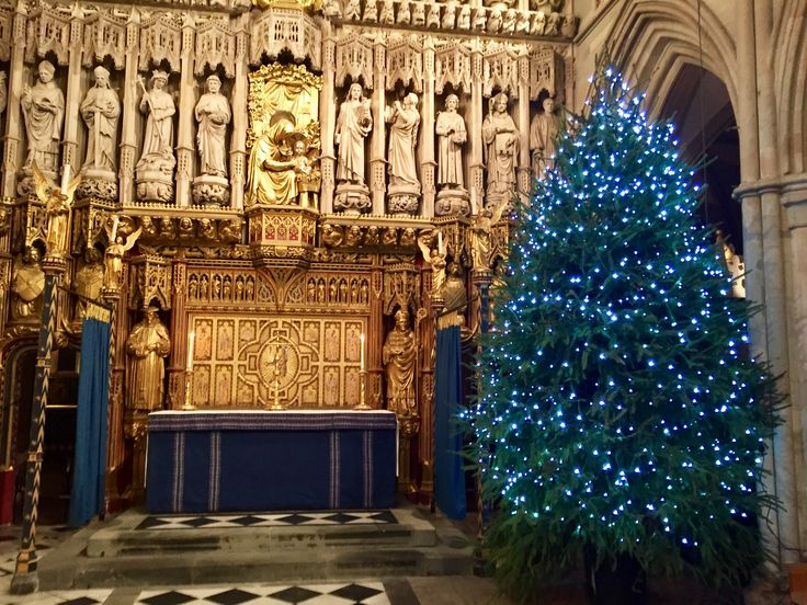 Image result for southwark cathedral photo of blue tree