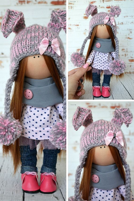 Fabric doll Interior doll Rag doll Art doll por AnnKirillartPlace