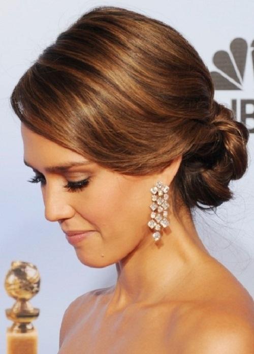 Hair up do. Jessica Alba.