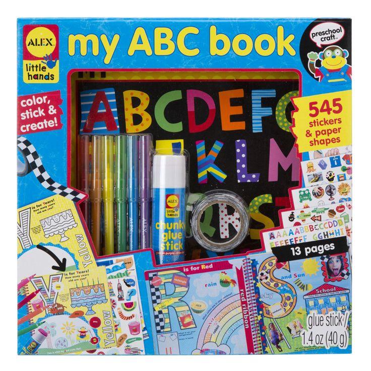 Alex İlk Alfabe Anı Defterim   Alfabeyi öğrenme ve okuma ile ilgili okul öncesi ilk deneyimlerinizi saklayacanız muhteşem bir hatıra defteri.  Göz alıcı çıkartmalar, hazır şekiller  sanat ve renklendirme çalışmaları ile tamamlayacağınız sayfalar. 'A' için bir aktivite yaratmak 'B' için bir doğum günü ve 'C' için kutlama  hazırlayın.    Set; 26 sayfalık ABC kitap (25,4cm x 25,4 cm)' yapıştırıcı stick , 6 boya kalemi, 545 etiket ve kağıt şekiller, renkli bant ve resimli talimatlar içerir. 4…